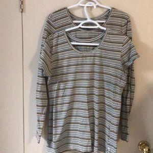 MEC Long Short Sleeve T Shirts CAMP COTTON x2 Sz L
